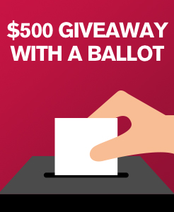 $500 giveaway with a ballot entered on each new or used car test driven in the month of February